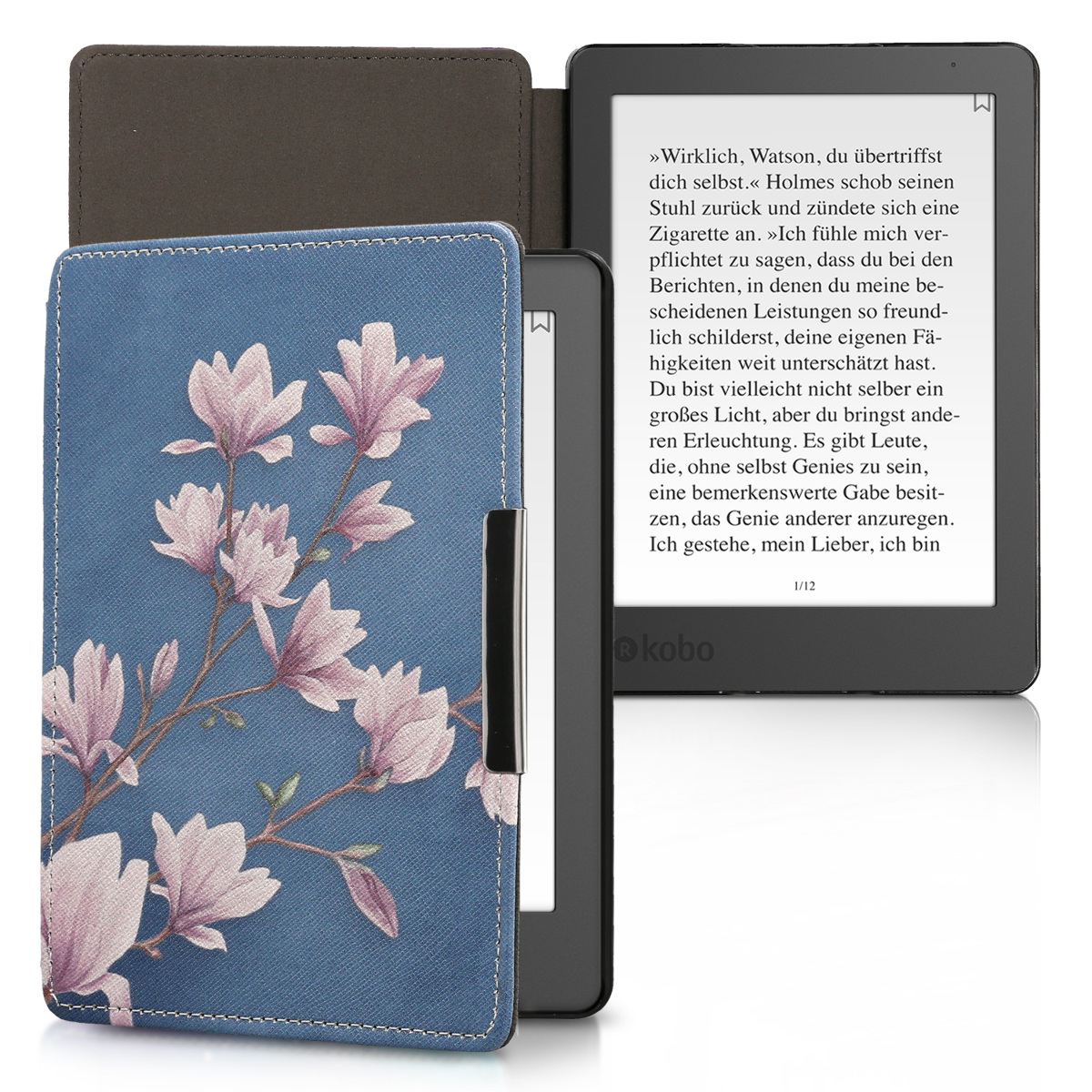 Housse l gante cuir synth tique pour kobo aura edition 2 for Housse kobo aura