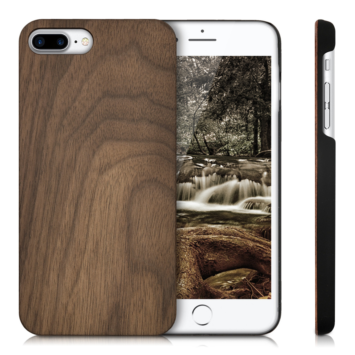 kwmobile holz h lle f r apple iphone 7 plus schutzh lle. Black Bedroom Furniture Sets. Home Design Ideas