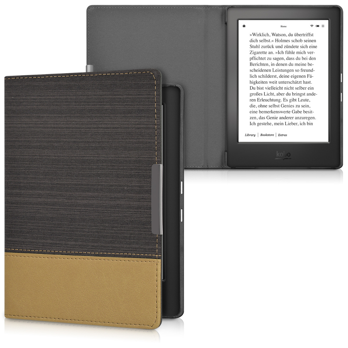 Case for kobo aura h2o edition 1 black book cover for Housse kobo aura h2o edition 2