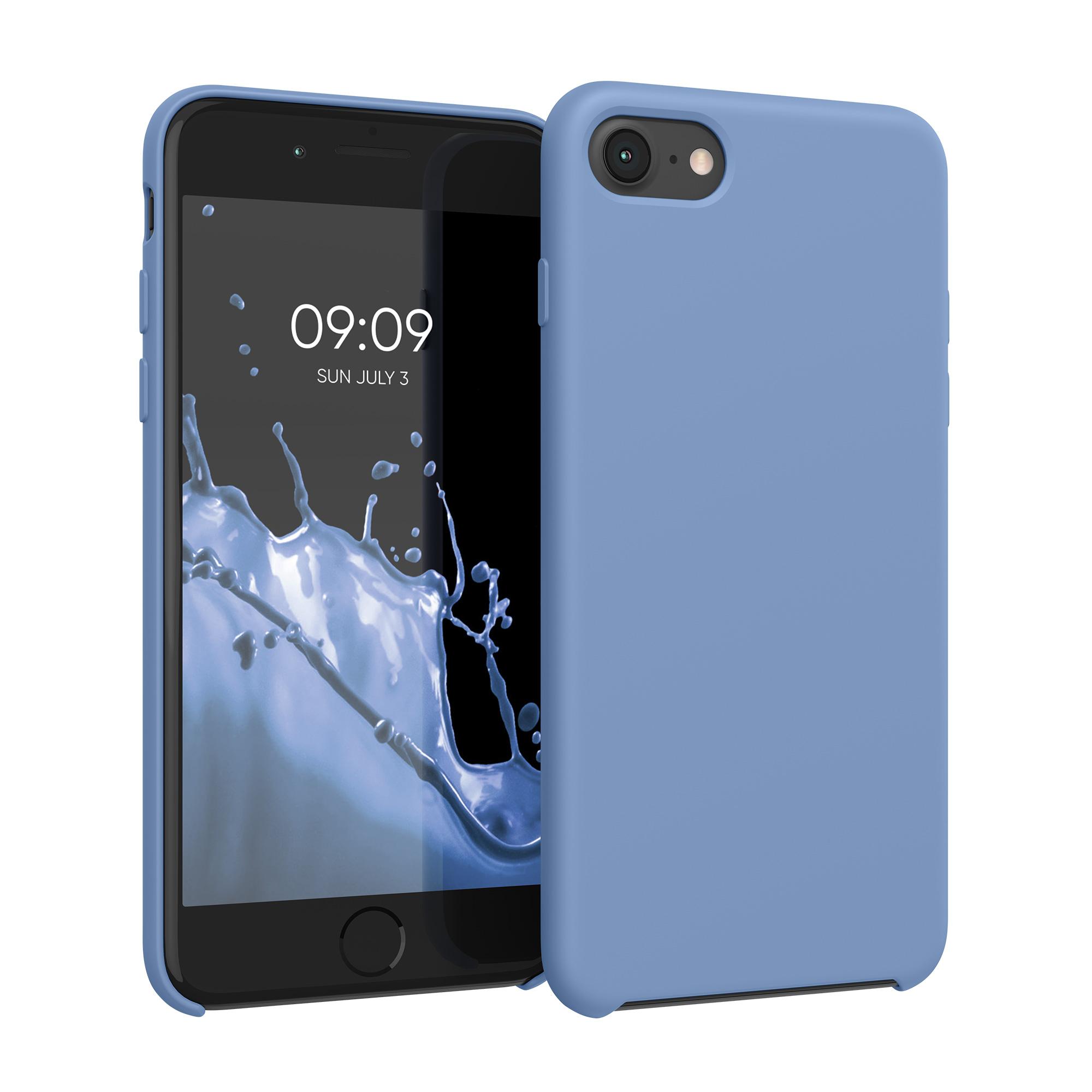 Kvalitní silikonové TPU pouzdro pro Apple iPhone 7 / 8 / SE  - azurově modré