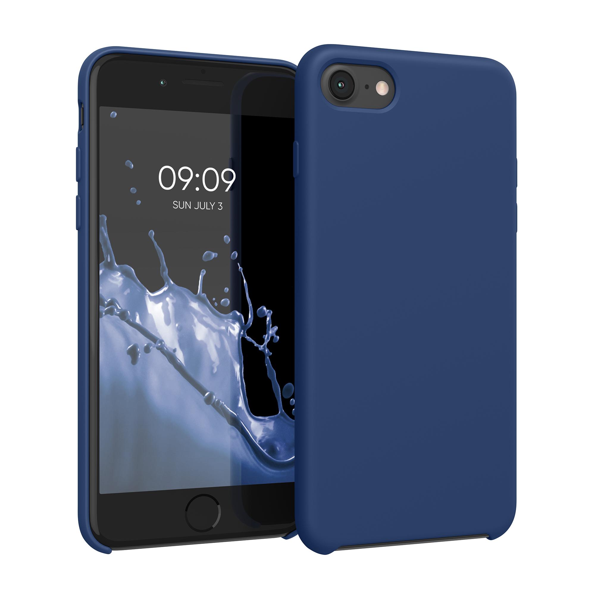 Kvalitní silikonové TPU pouzdro pro Apple iPhone 7 / 8 / SE  - Námořnická modrá
