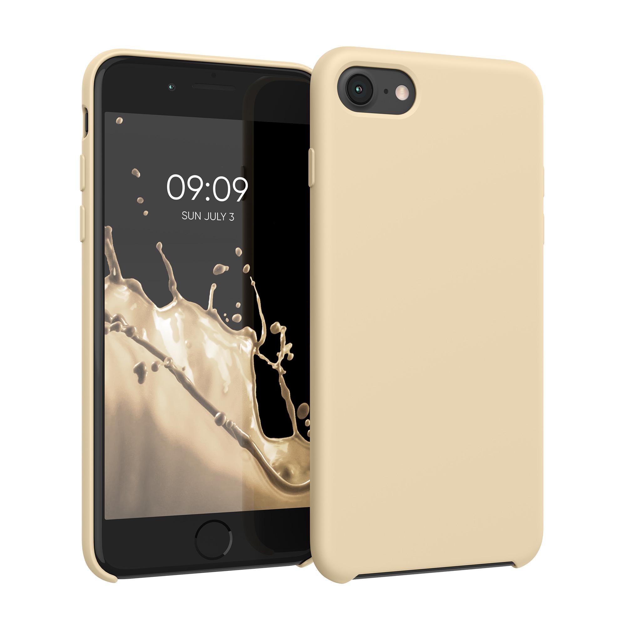 Kvalitní silikonové TPU pouzdro pro Apple iPhone 7 / 8 / SE  - krémem