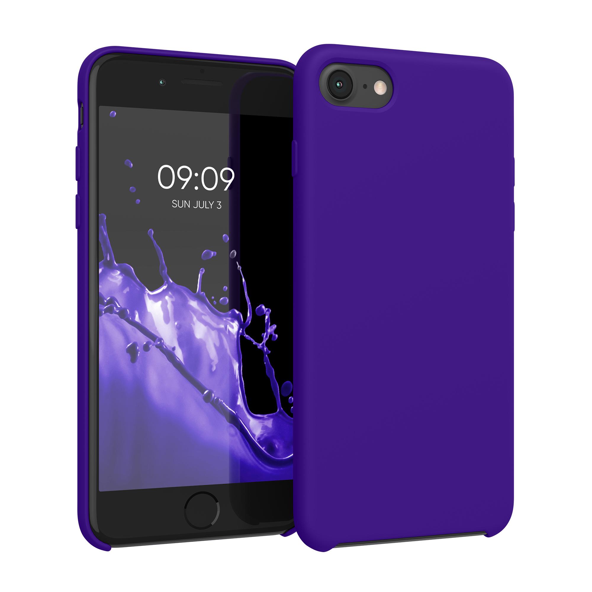 Kvalitní silikonové TPU pouzdro pro Apple iPhone 7 / 8 / SE  - fialový