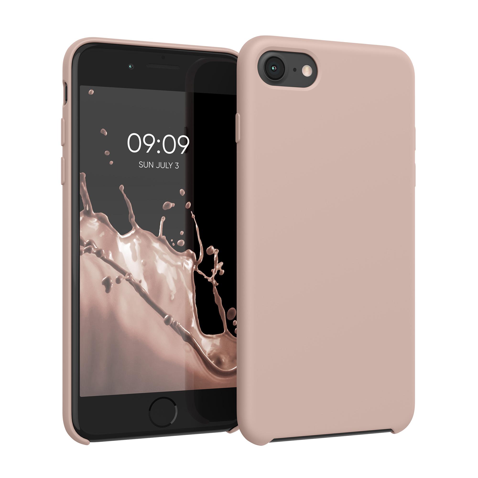 Kvalitní silikonové TPU pouzdro pro Apple iPhone 7 / 8 / SE  - Rose Gold Matte