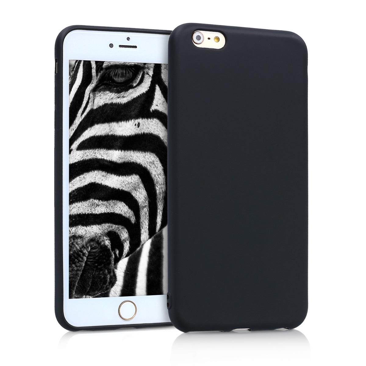 Kvalitní silikonové TPU pouzdro pro Apple iPhone 6 Plus / 6S - Metallic Black