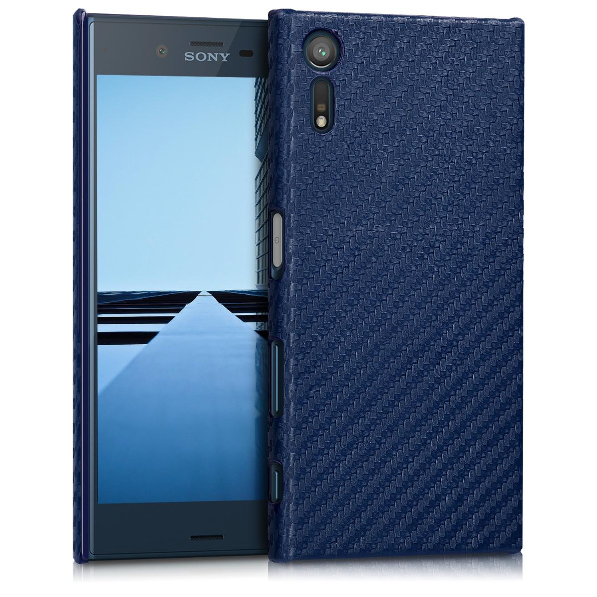Kvalitní plastové pouzdro | obal pro Sony Xperia XZ / XZs - tmavě modré