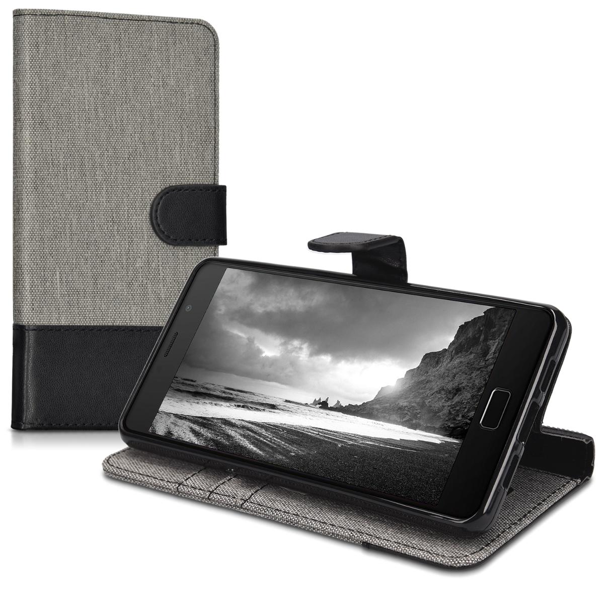 kwmobile wallet stoff schutzh lle f r lenovo p2 cover case. Black Bedroom Furniture Sets. Home Design Ideas