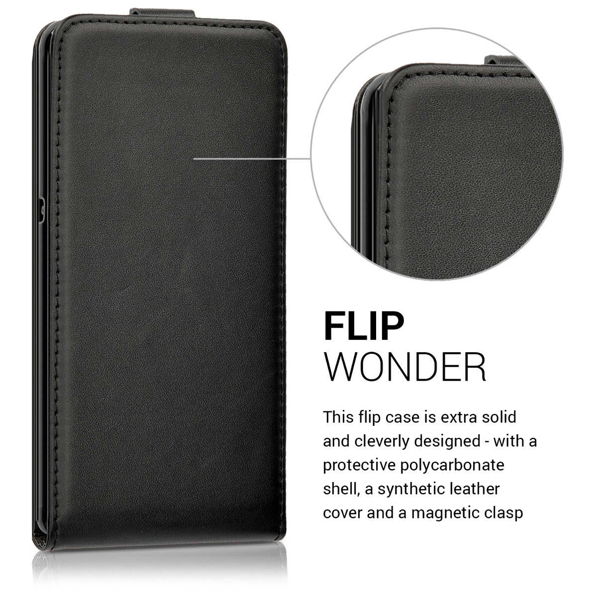 flip schutz h lle f r lenovo p2 schwarz tasche case handy. Black Bedroom Furniture Sets. Home Design Ideas
