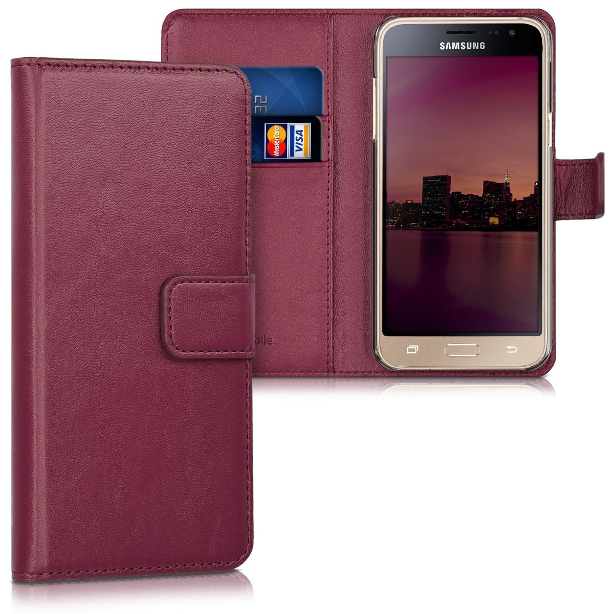 Kožené pouzdro pro Samsung J3 (2016) DUOS - Bordeaux