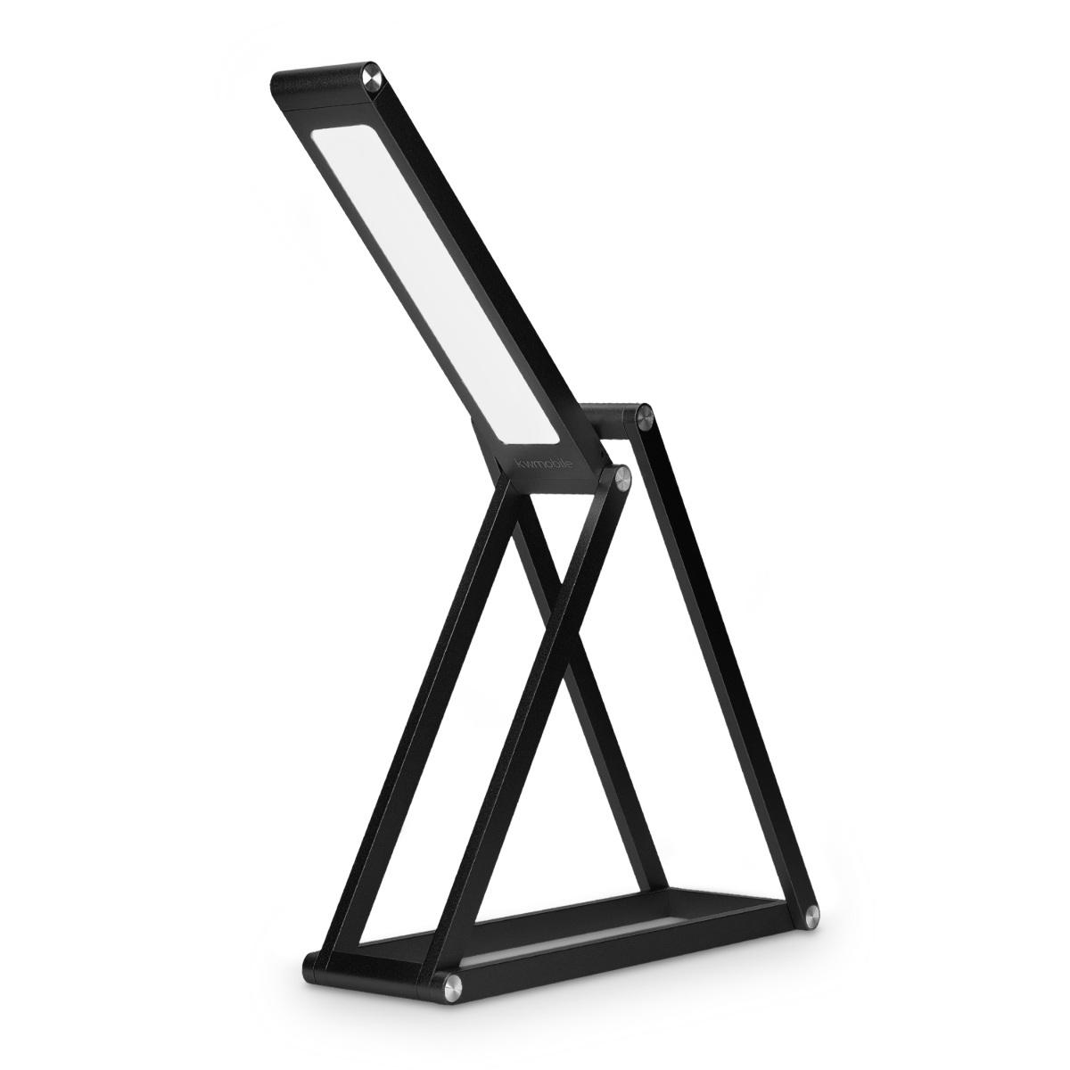 led aluminium tischlampe faltbar akku lampe dimmbar. Black Bedroom Furniture Sets. Home Design Ideas