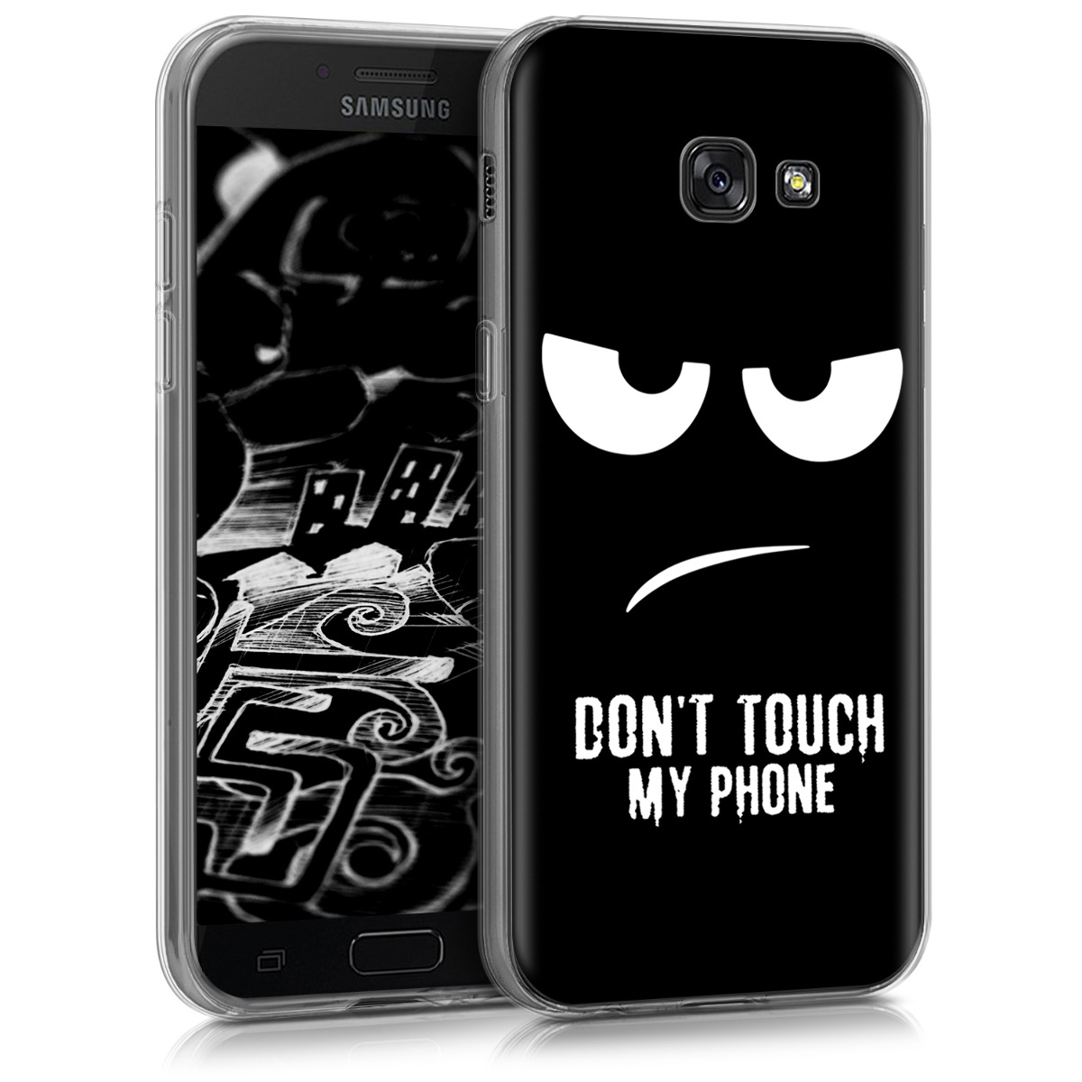 Kvalitní silikonové TPU pouzdro pro Samsung A5 (2017) - Nedotýkejte My Phone bílé / černé