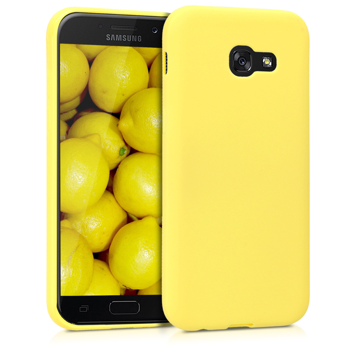 Kvalitní silikonové TPU pouzdro pro Samsung A5 (2017) - pastelové žluté matné