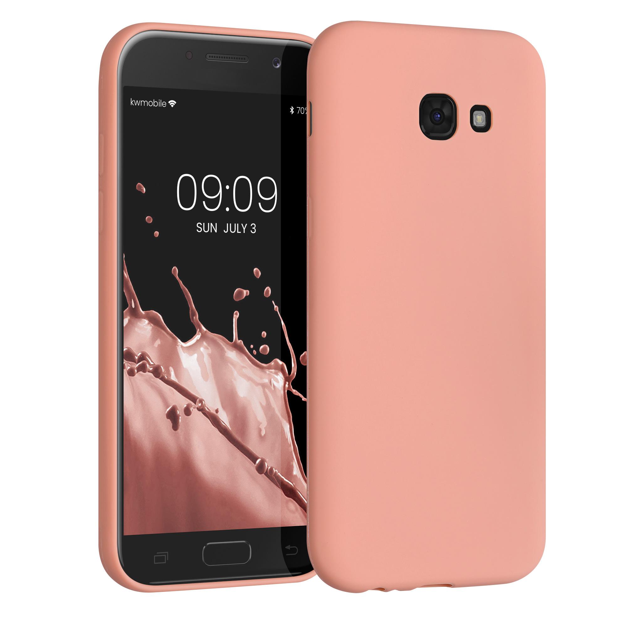 Kvalitní silikonové TPU pouzdro pro Samsung A5 (2017) - korálově oranžové matné