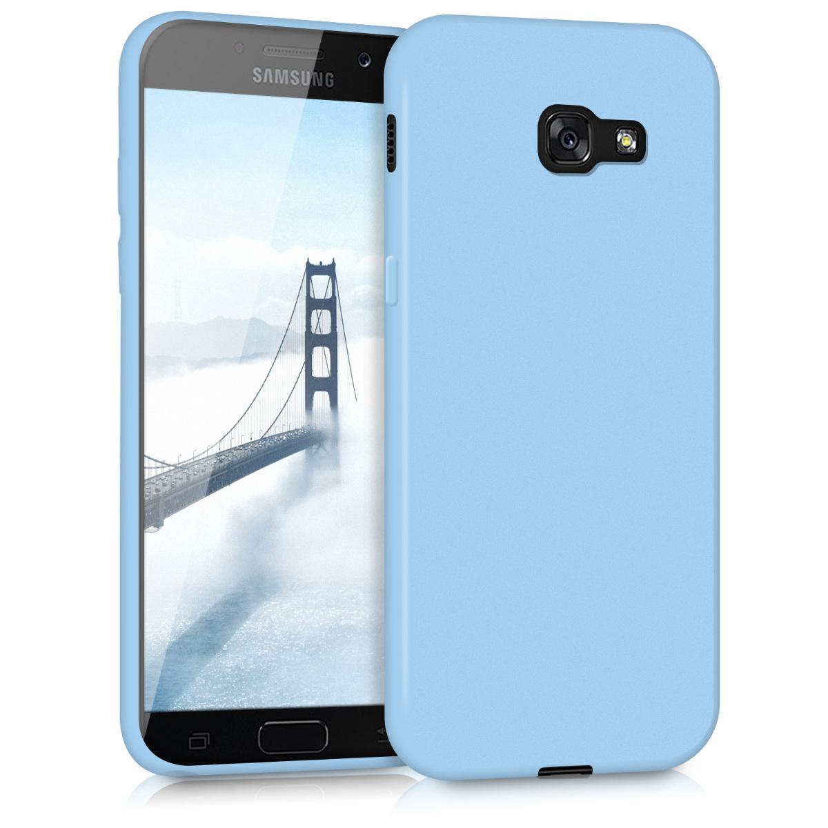 Kvalitní silikonové TPU pouzdro pro Samsung A5 (2017) - světle  modré matné