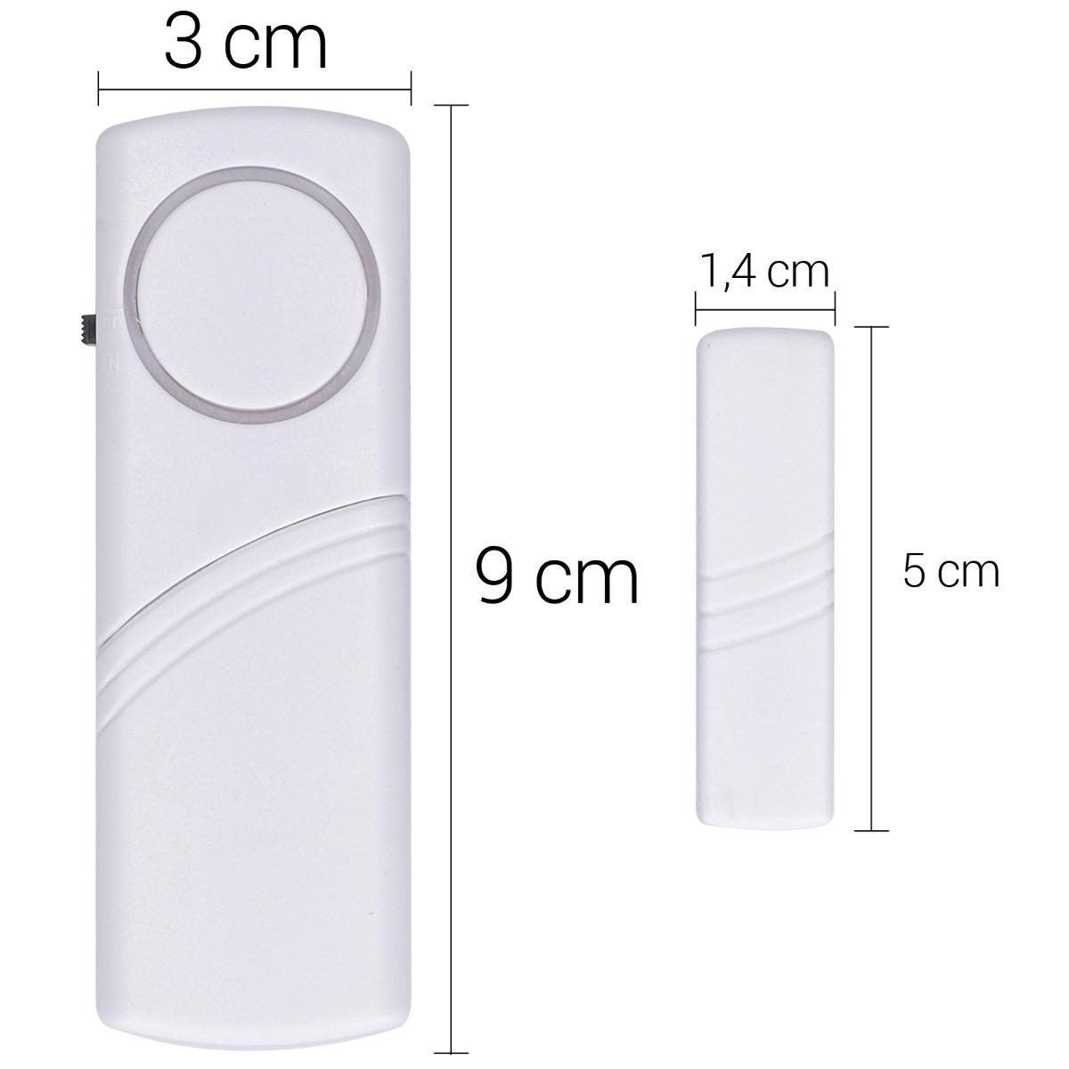 4x fenster t r alarm einbruchschutz akustisch drahtlos alarmanlage 100db sirene ebay. Black Bedroom Furniture Sets. Home Design Ideas