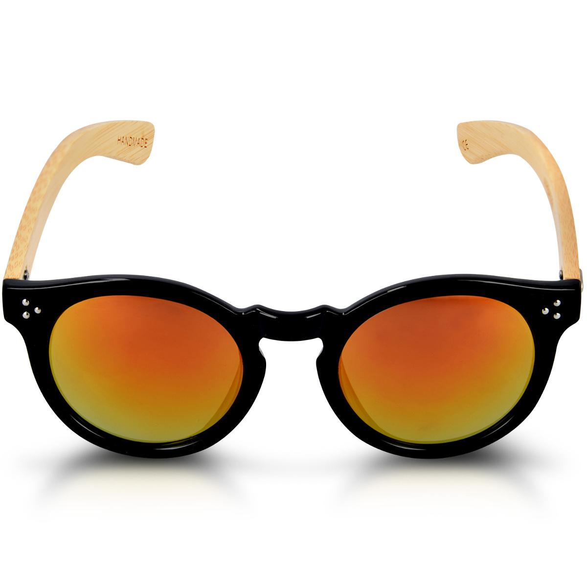 8acea57be505 Navaris UV400 Bamboo Sunglasses - Unisex Retro Wooden Optics Glasses -  Classic Wood Shades Women Men - Eyewear with Case Polarized Lenses. ‹ › ‹ ›  ‹ › ‹ ›