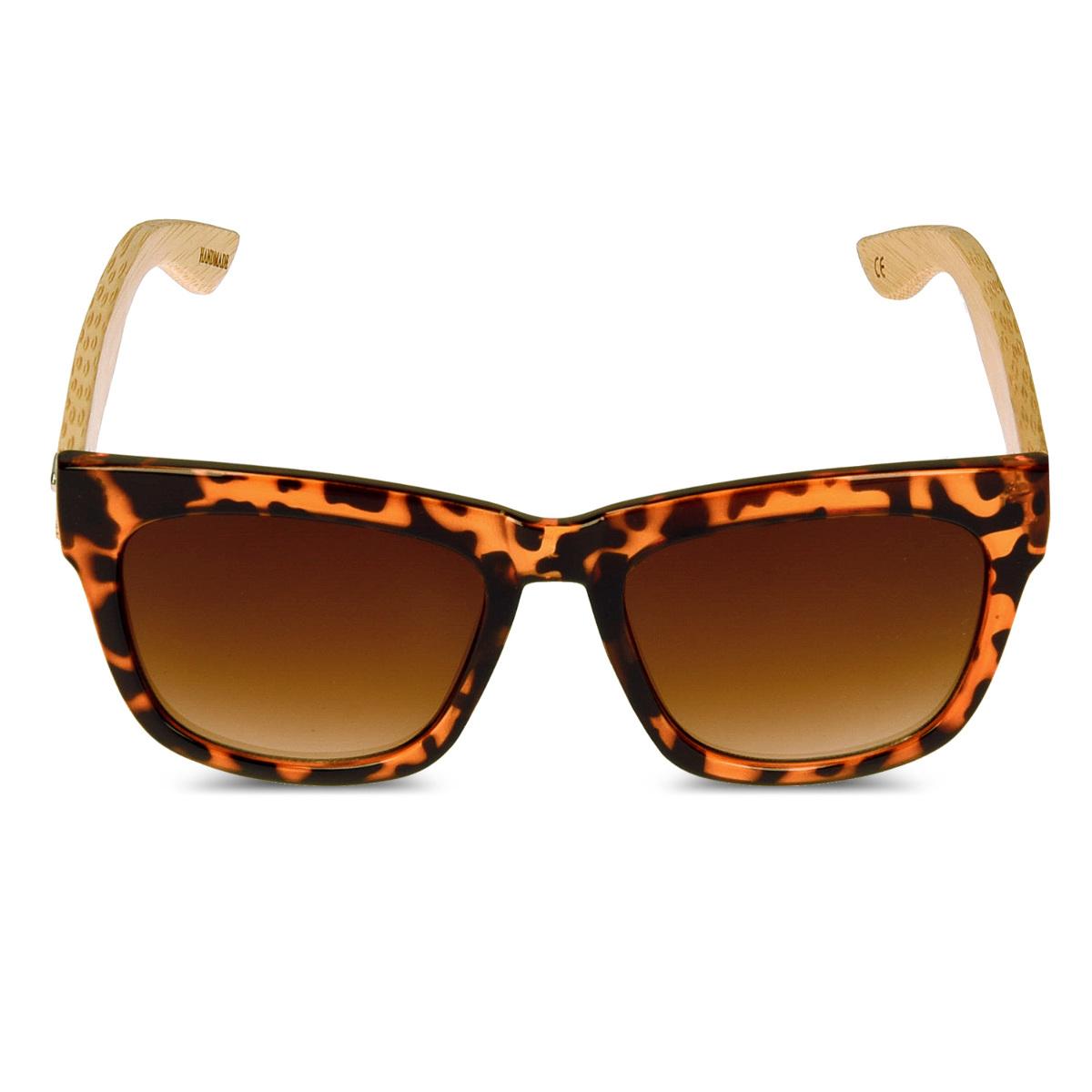 Occhiali da sole in legno wayfarer uv400 con astine in for Occhiali da sole montatura in legno