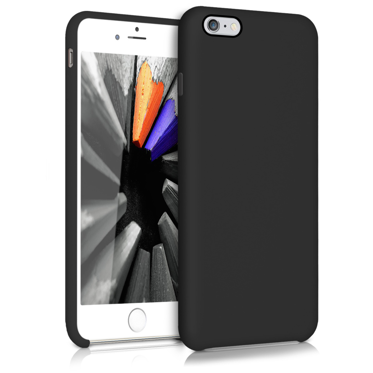 Kvalitní silikonové TPU pouzdro pro Apple iPhone 6 Plus / 6S - Černá