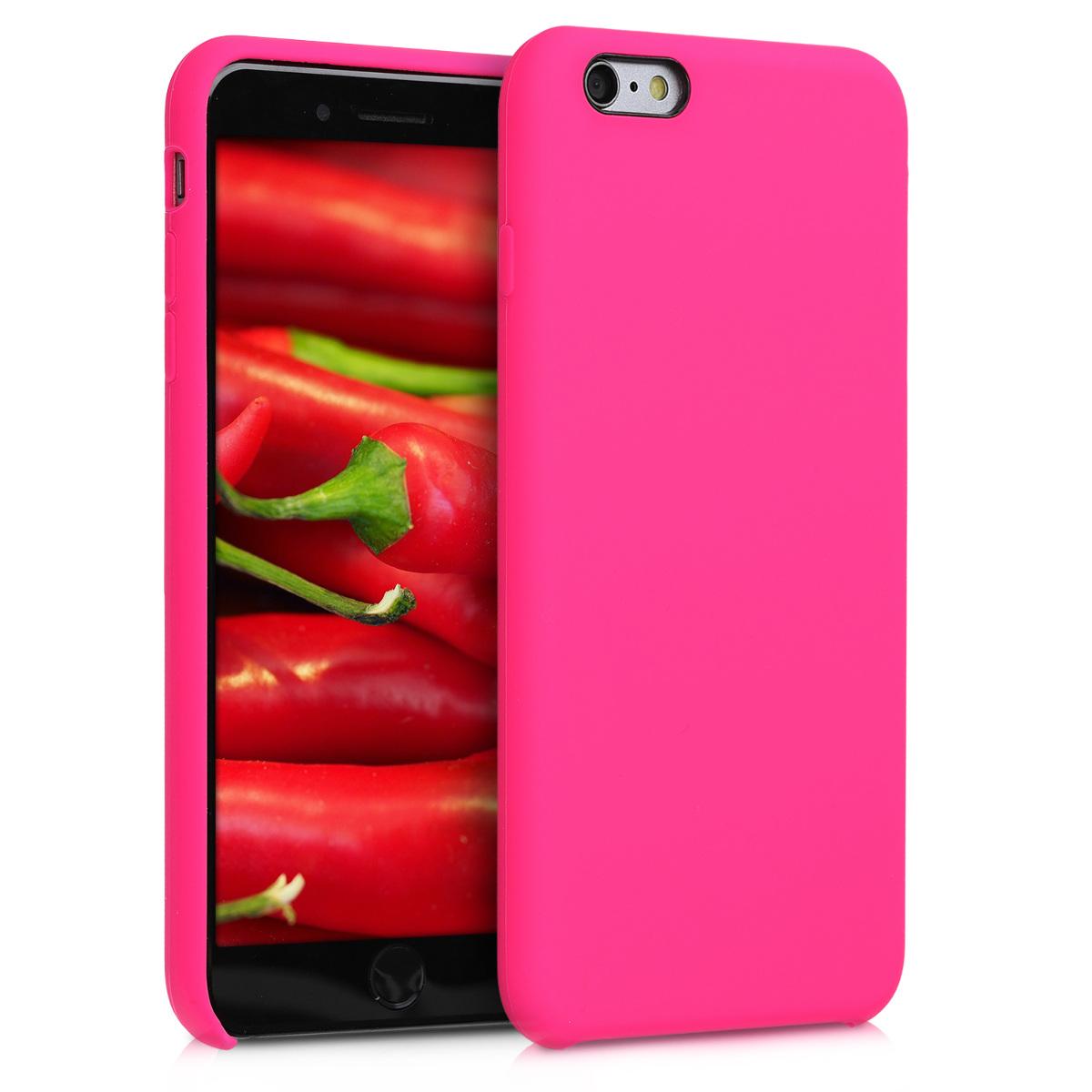 Kvalitní silikonové TPU pouzdro pro Apple iPhone 6 Plus / 6S - Neon Pink