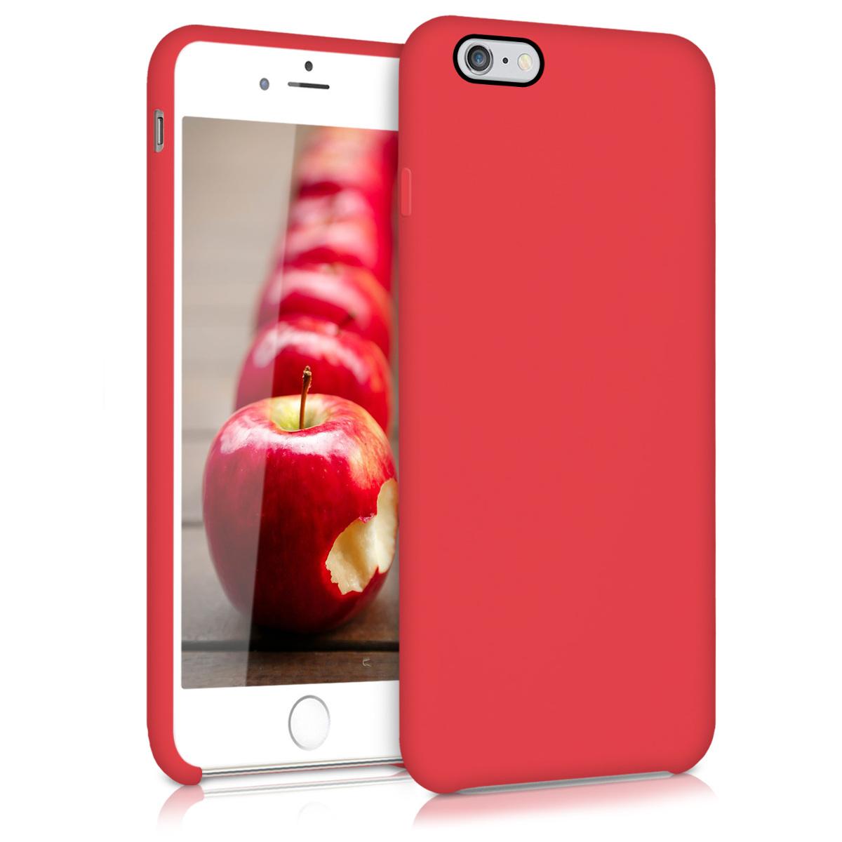 Kvalitní silikonové TPU pouzdro pro Apple iPhone 6 Plus / 6S - Červené