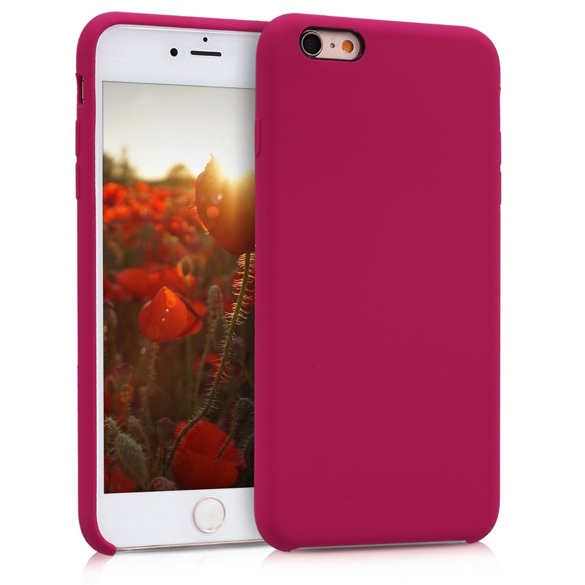 Kvalitní silikonové TPU pouzdro pro Apple iPhone 6 Plus / 6S - Fuchsia | Red