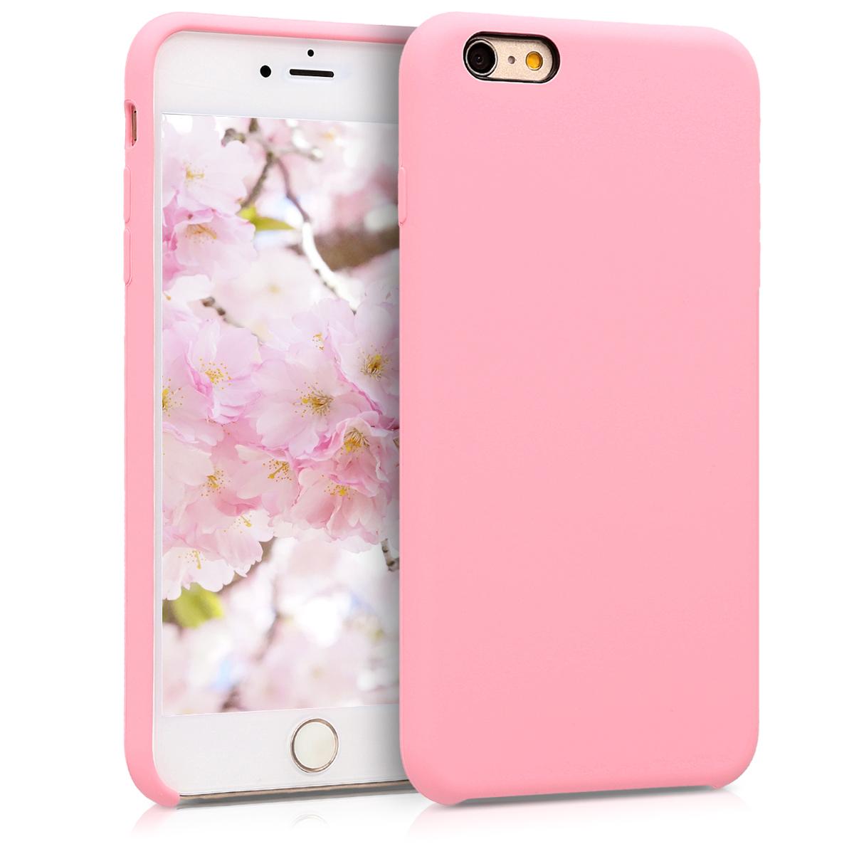 Kvalitní silikonové TPU pouzdro pro Apple iPhone 6 Plus / 6S - Světle růžová