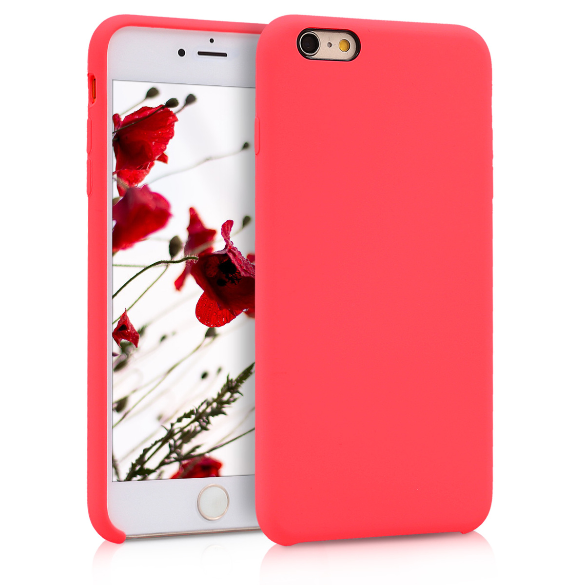 Kvalitní silikonové TPU pouzdro pro Apple iPhone 6 Plus / 6S - Neon Red