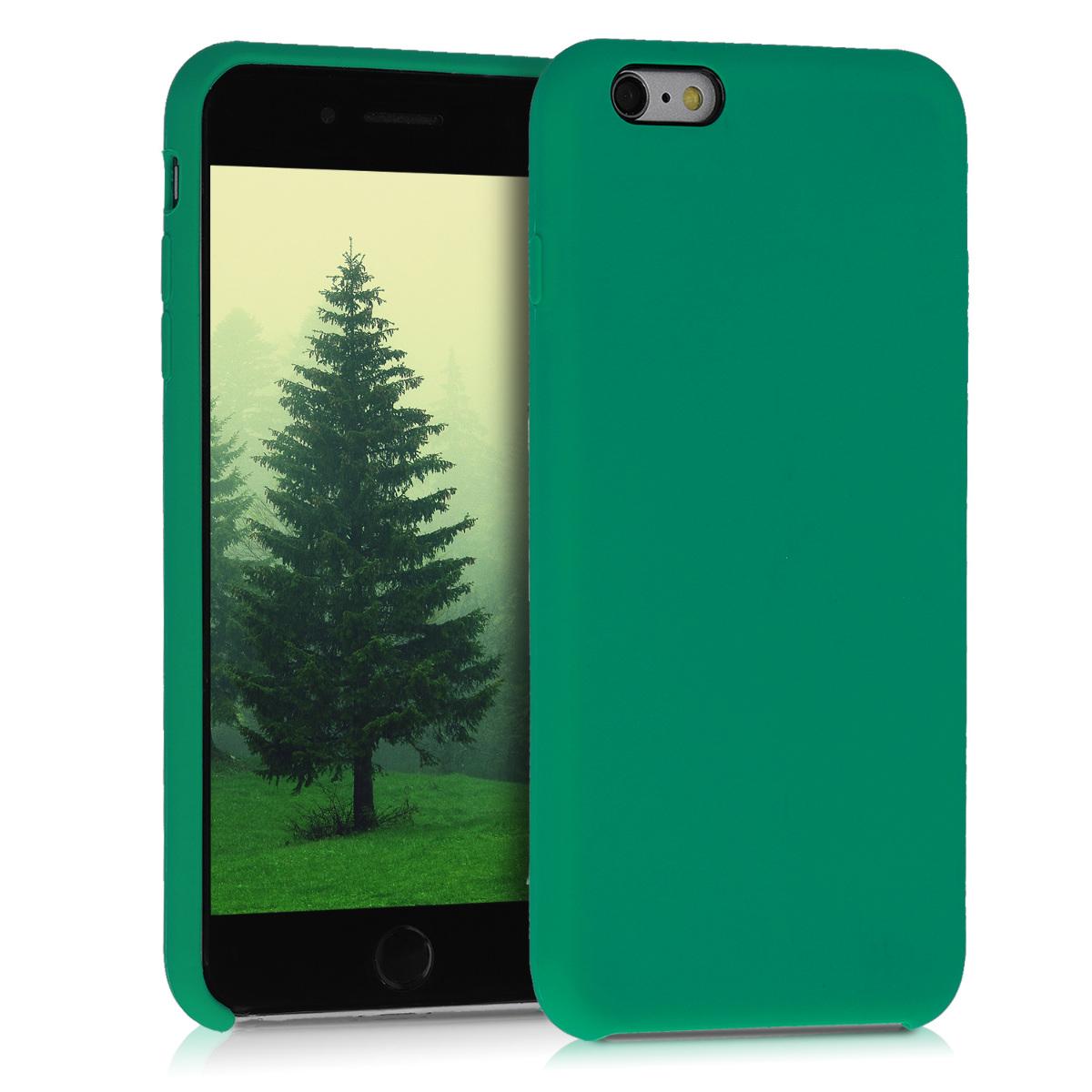 Kvalitní silikonové TPU pouzdro pro Apple iPhone 6 Plus / 6S - Smaragdová zeleň