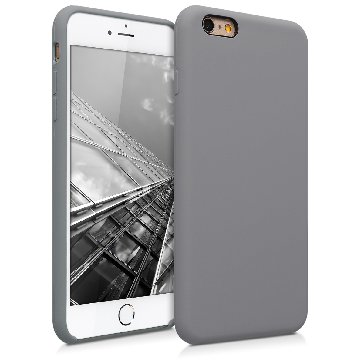 Kvalitní silikonové TPU pouzdro pro Apple iPhone 6 Plus / 6S - Titanium Gray
