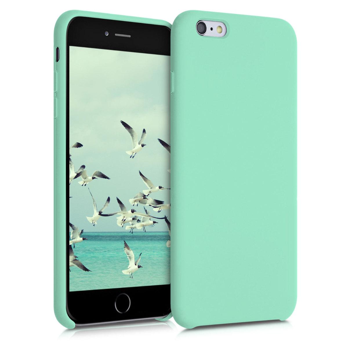 Kvalitní silikonové TPU pouzdro pro Apple iPhone 6 Plus / 6S - pastel Green