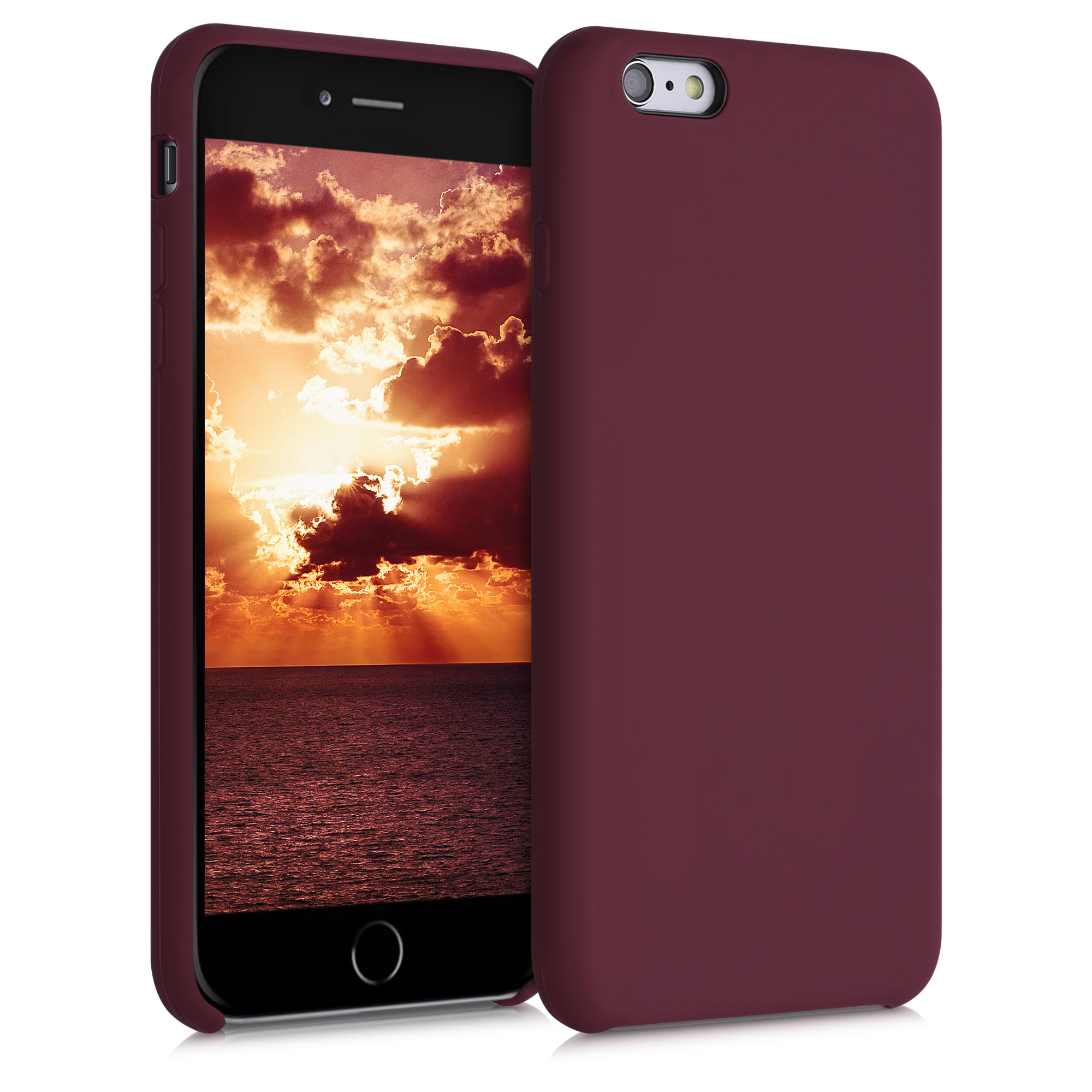 Kvalitní silikonové TPU pouzdro pro Apple iPhone 6 Plus / 6S - Tawny Red