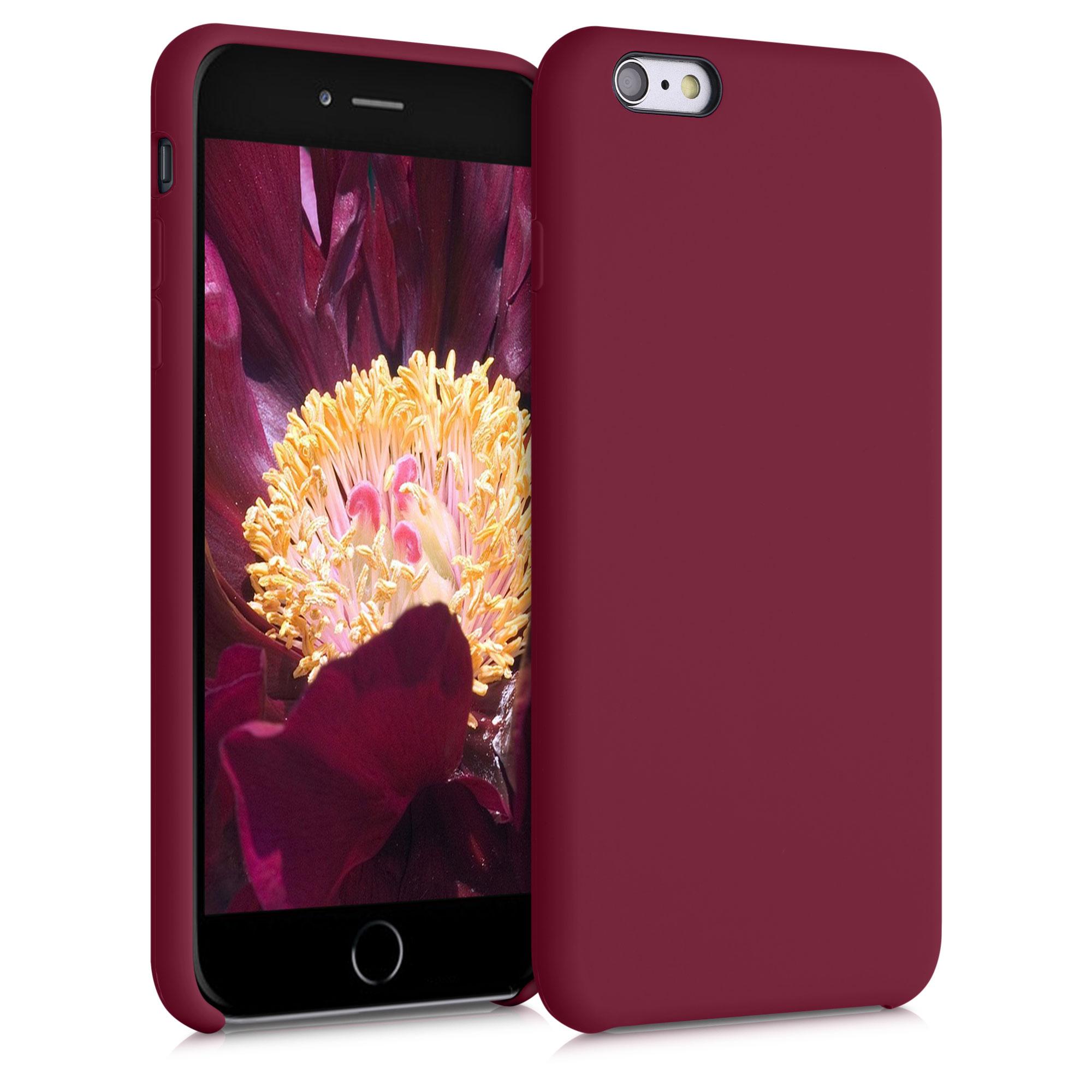 Kvalitní silikonové TPU pouzdro pro Apple iPhone 6 Plus / 6S - rebarbora Red