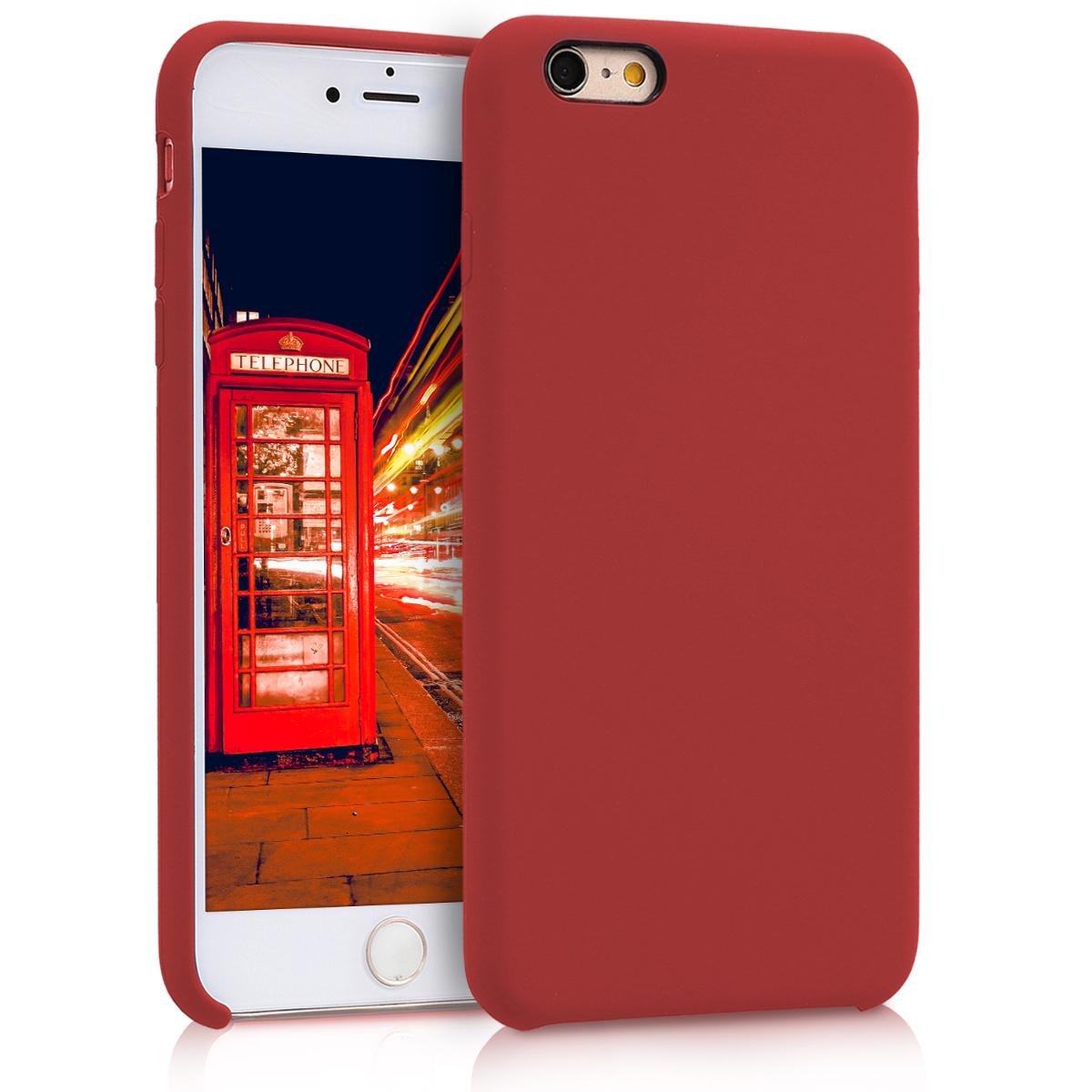 Kvalitní silikonové TPU pouzdro pro Apple iPhone 6 Plus / 6S - Tmavě červená