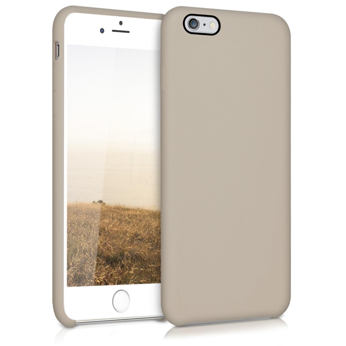 Kvalitní silikonové TPU pouzdro pro Apple iPhone 6 Plus / 6S - tmavošedý