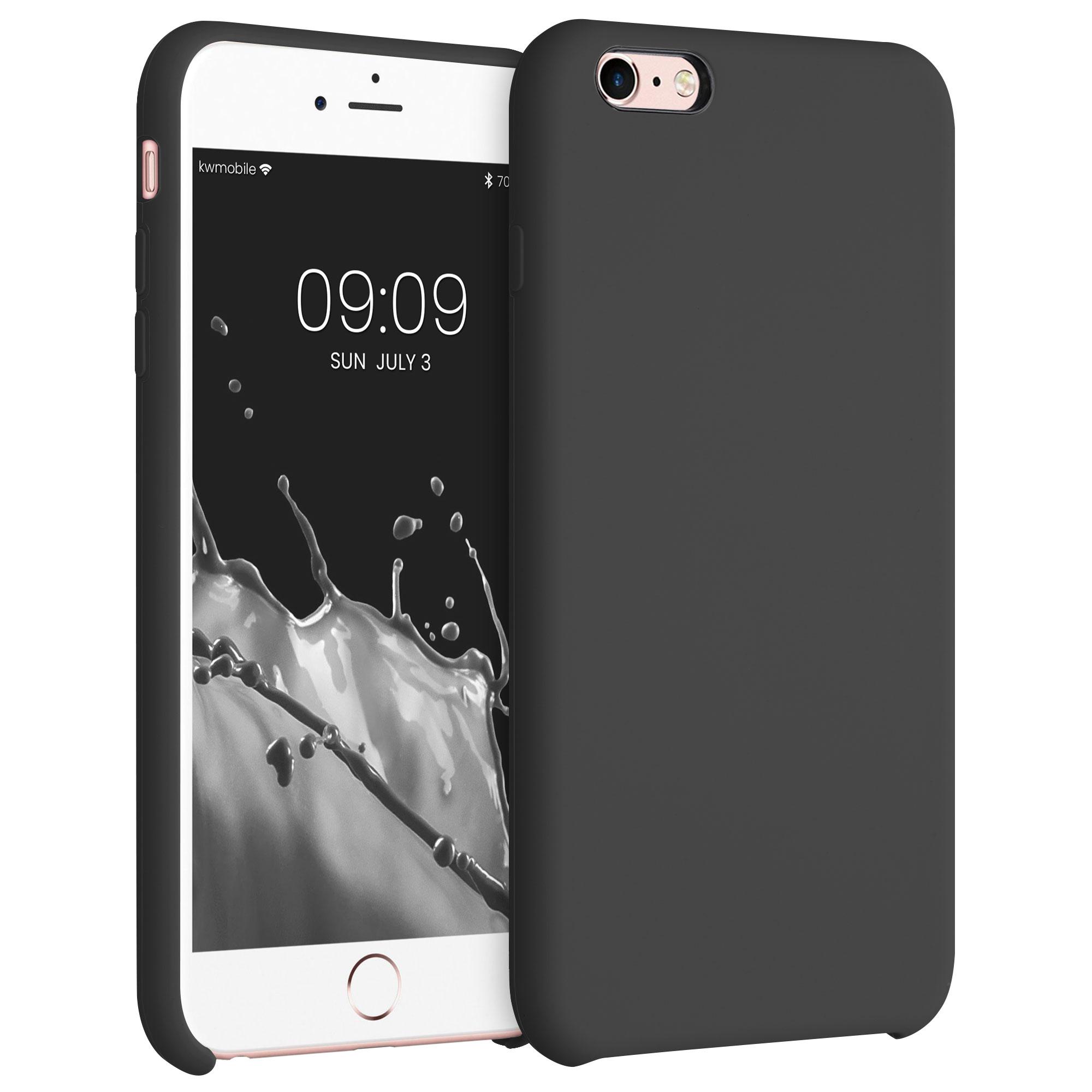 Kvalitní silikonové TPU pouzdro pro Apple iPhone 6 Plus / 6S - Black Matte