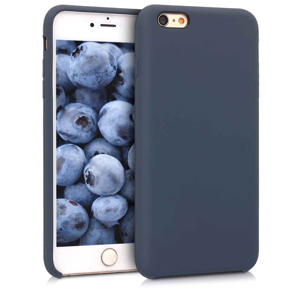 Kvalitní silikonové TPU pouzdro pro Apple iPhone 6 Plus / 6S - Dark Blue Matte