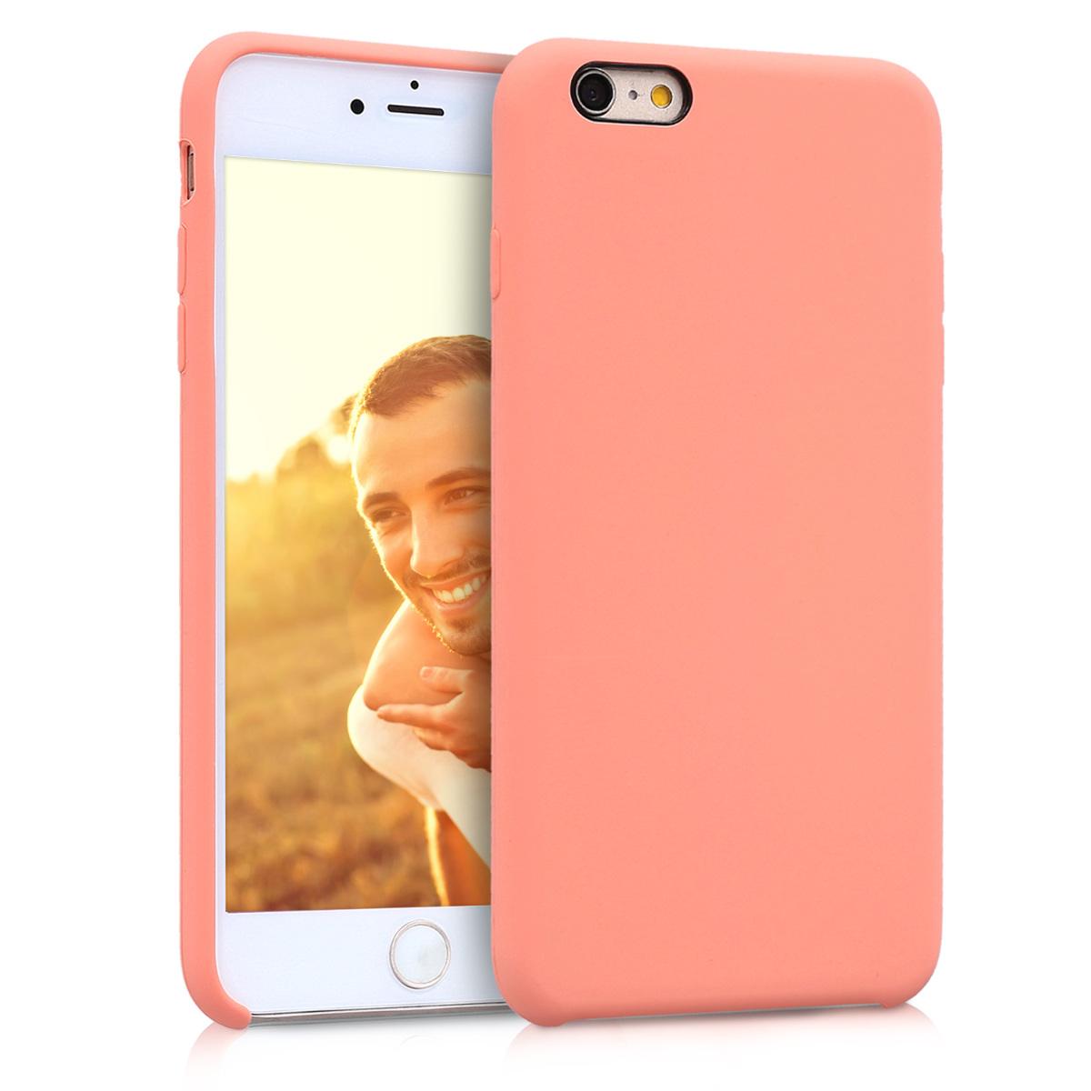 Kvalitní silikonové TPU pouzdro pro Apple iPhone 6 Plus / 6S - Korál