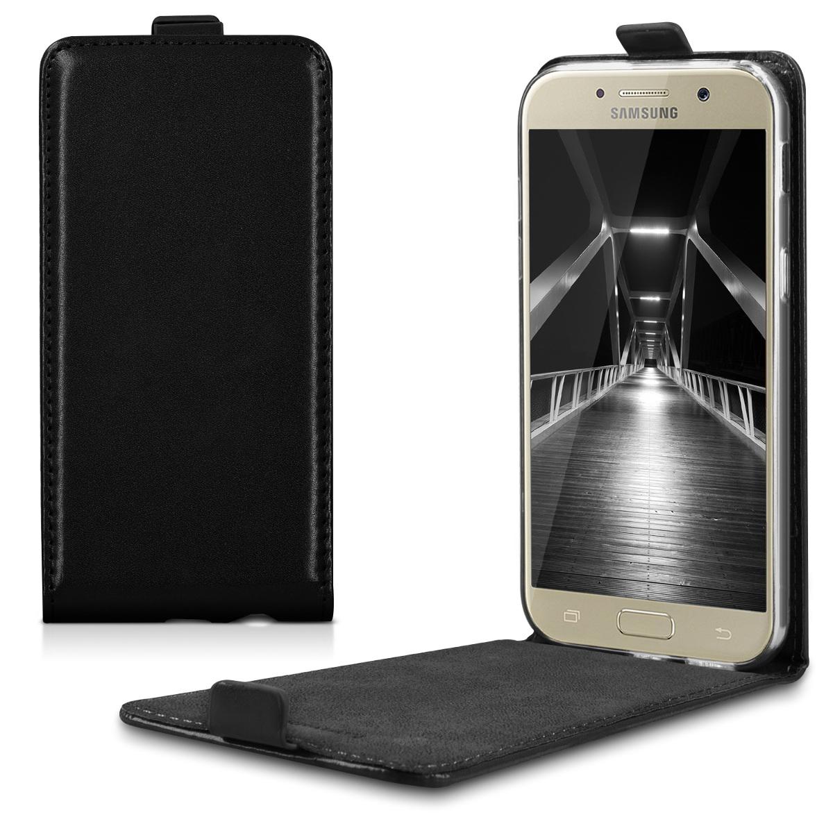 Kožené pouzdro pro Samsung A5 (2017) - černé