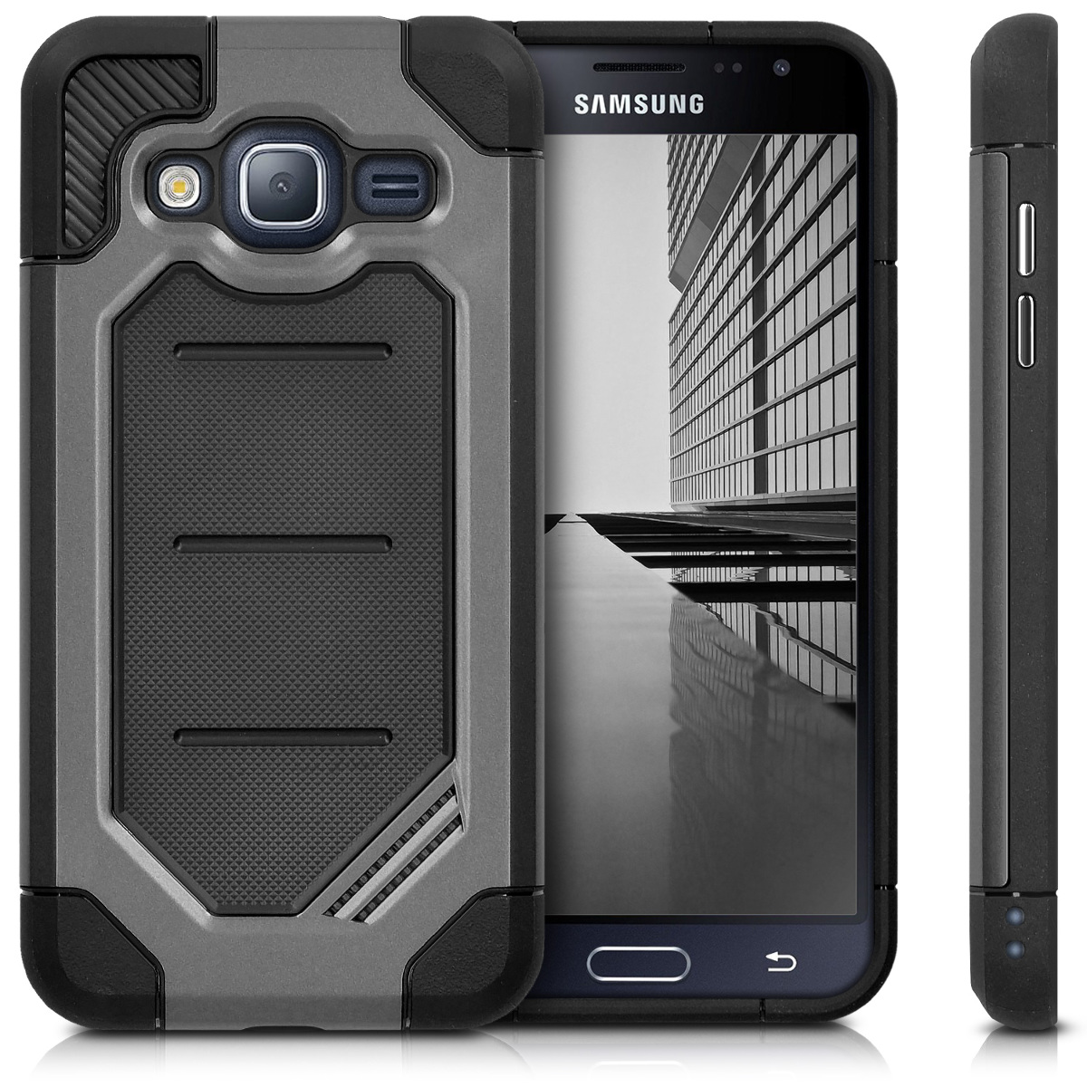 kwmobile-ETUI-DE-PROTECTION-POUR-SAMSUNG-GALAXY-J3-2016-DUOS-HYBRID-CHIC