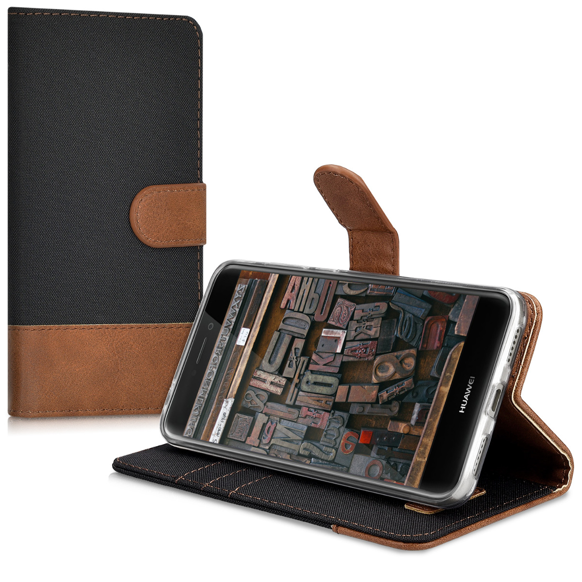 Huelle-fuer-Huawei-P8-Lite-2017-Kunstleder-Wallet-Case-Cover-Handy-Schutzhuelle