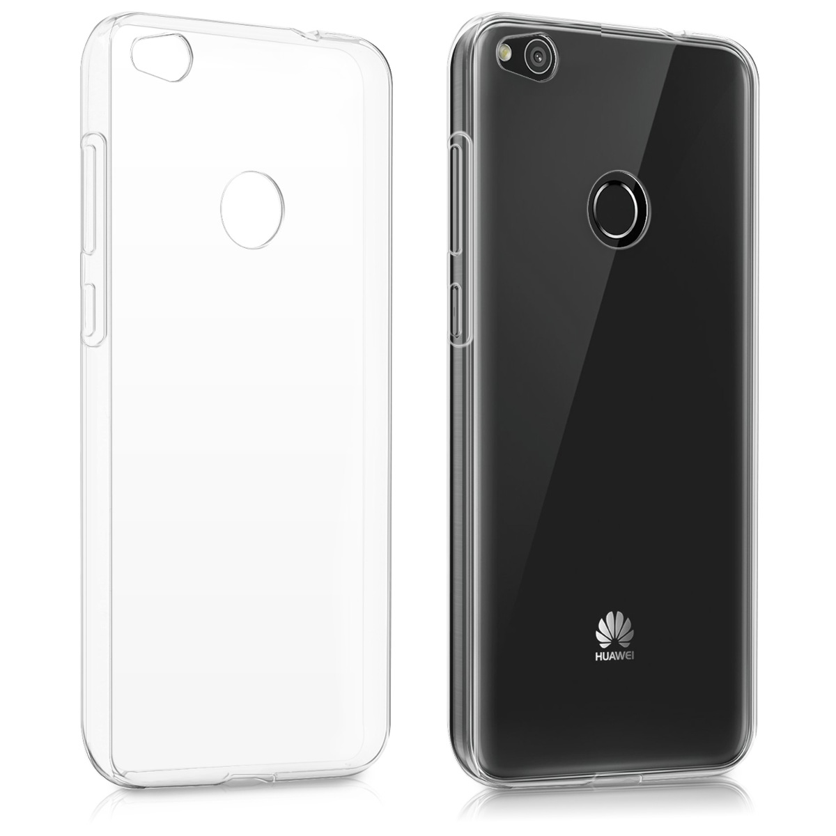 kwmobile tpu silicone crystal case for huawei p8 lite 2017 transparent soft ebay. Black Bedroom Furniture Sets. Home Design Ideas
