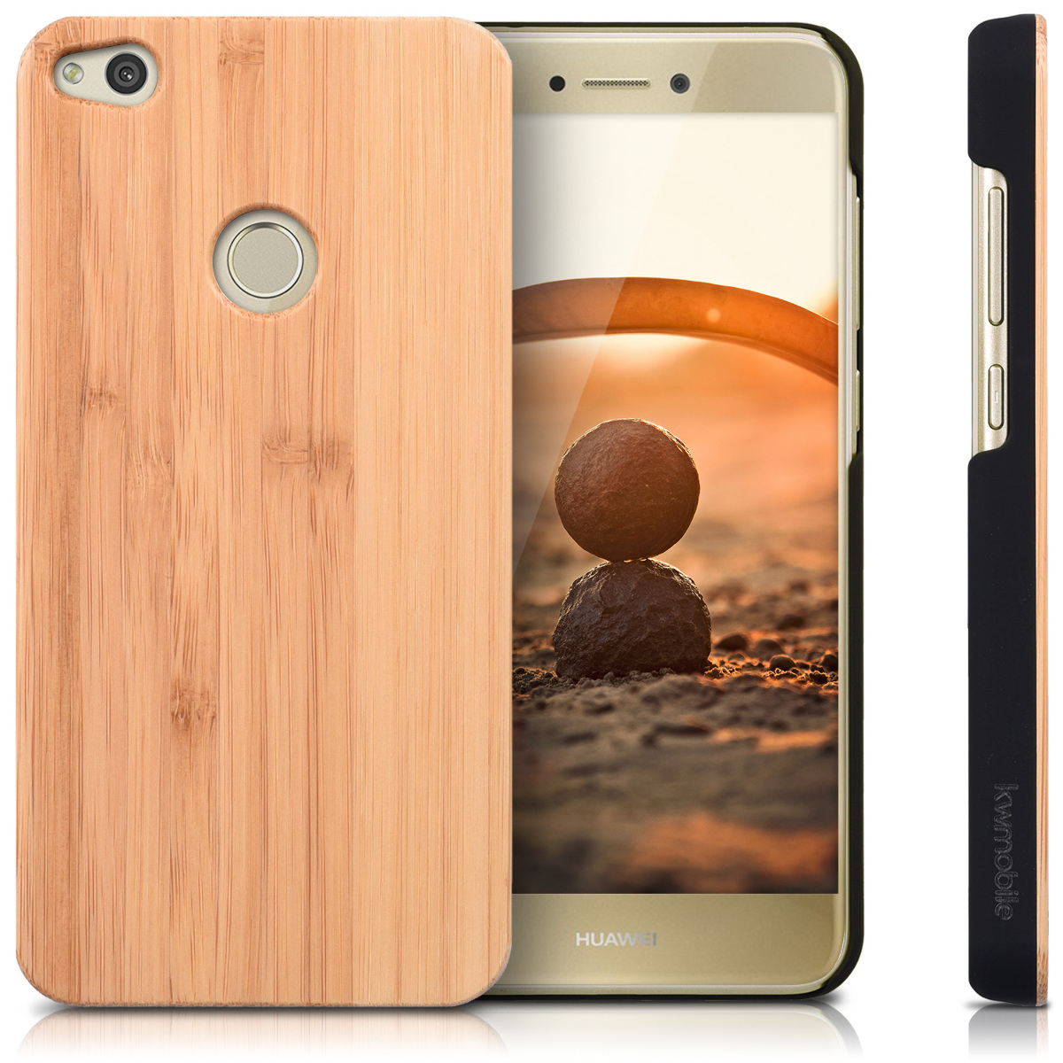 wooden case for huawei p8 lite 2017 protection cover mobile case glitter ebay. Black Bedroom Furniture Sets. Home Design Ideas