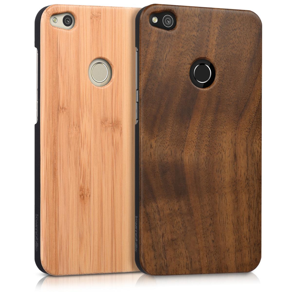 wooden case for huawei p8 lite 2017 protection cover mobile case glitter ebay. Black Bedroom Furniture Sets. Home Design Ideas