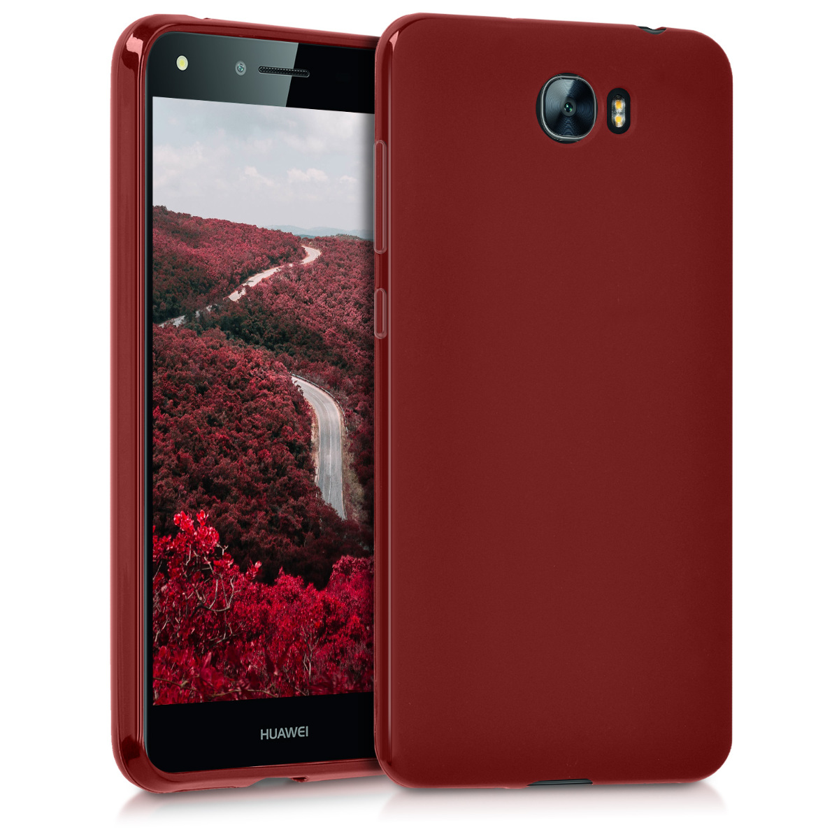 Tpu Silicone Cover For Huawei Y6 Ii Compact  2016  Red