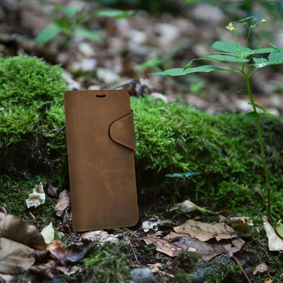 Wallet Leder Case Hülle für Samsung Galaxy S8 Braun Cover Handy Tasche Schale