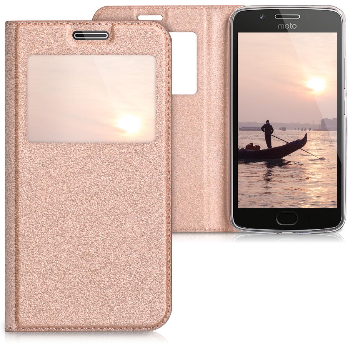 3x folie na display | screenprotector pouzdro | obal pro Motorola Moto G5 - Růžově zlatá