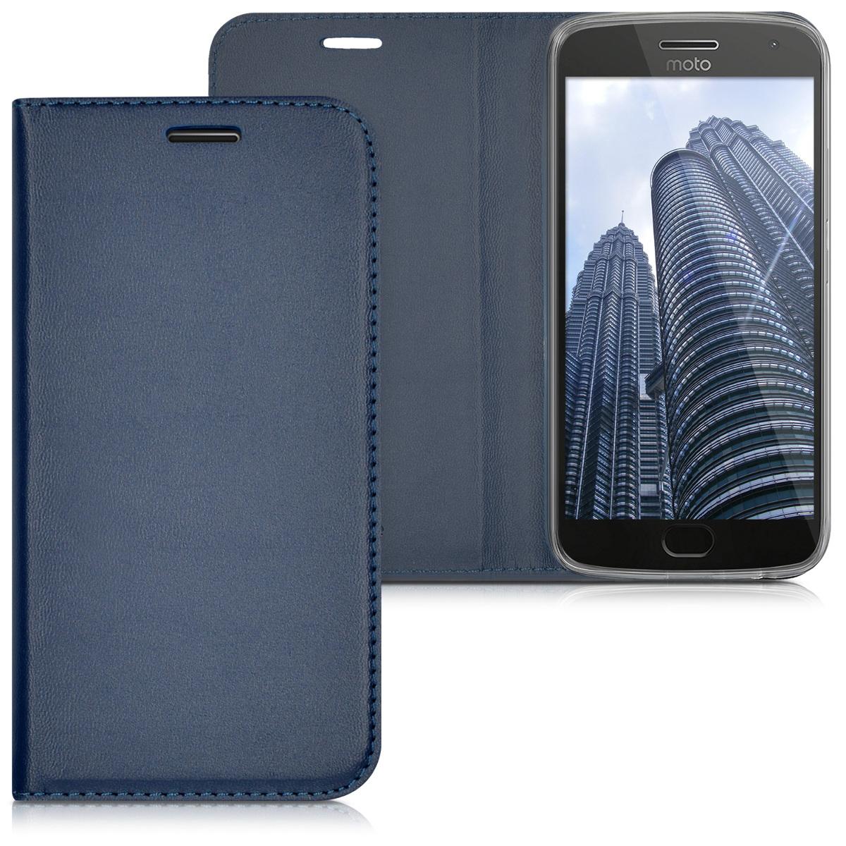 3x folie na display | screenprotector pouzdro | obal pro Motorola Moto G5 Plus - Tmavě modrá