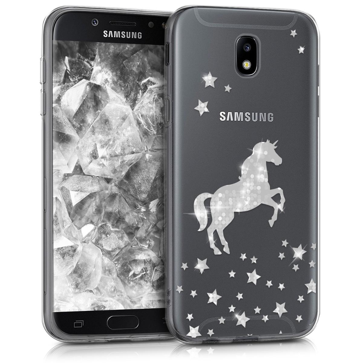 Kvalitní silikonové TPU pouzdro pro Samsung J5 (2017) DUOS - Unicorn stříbrné / transparentní