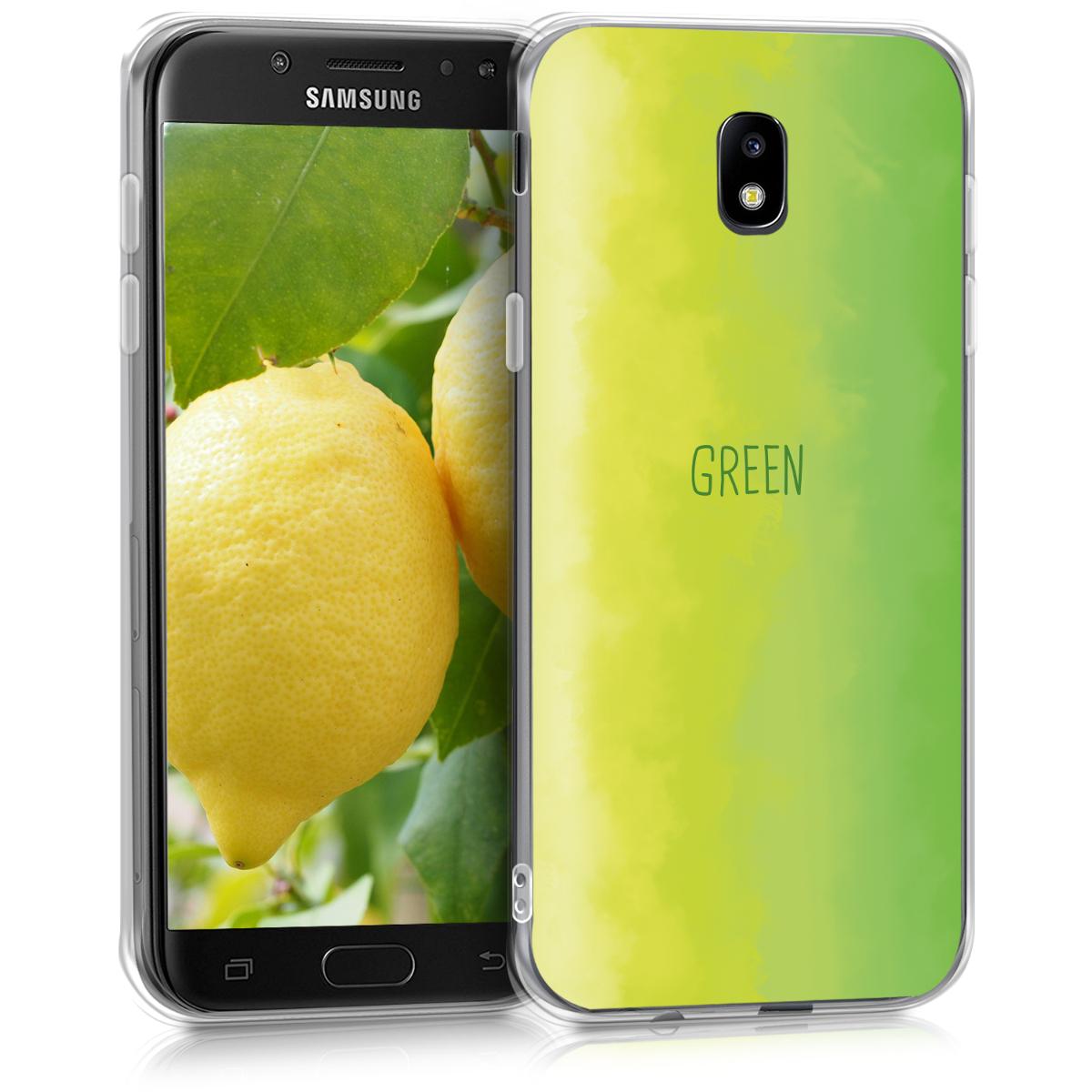 Kvalitní silikonové TPU pouzdro pro Samsung J5 (2017) DUOS - Ombre světle zelené / zelené