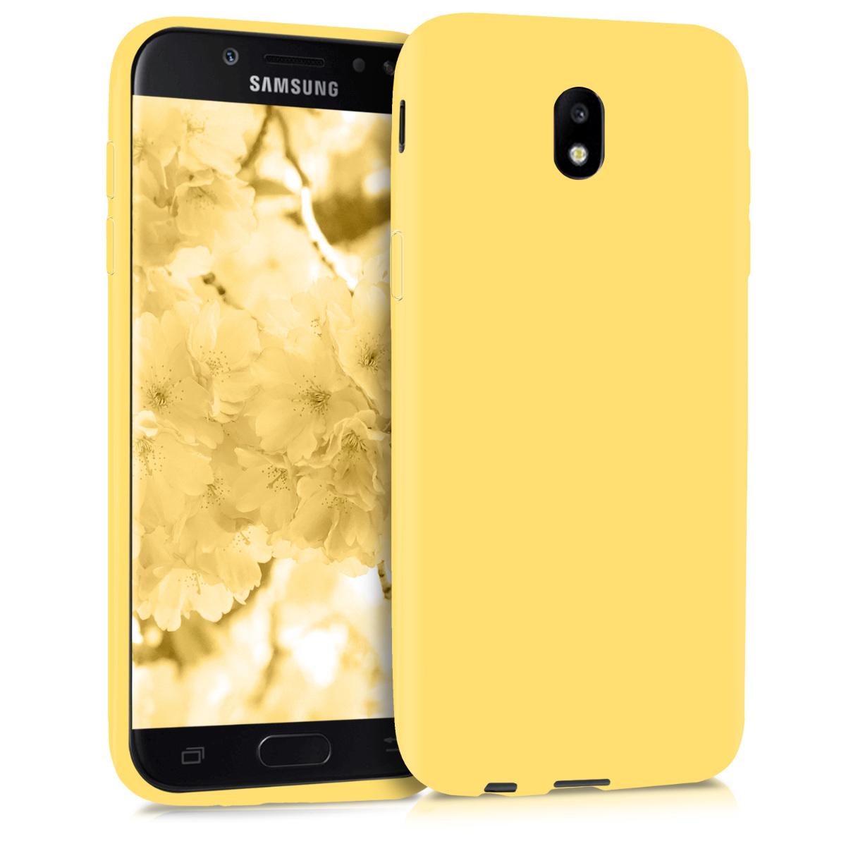 Kvalitní silikonové TPU pouzdro pro Samsung J5 (2017) DUOS - žluté matné